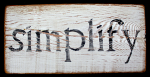 """Simplify"" sign by Manon Von Uchtrup"